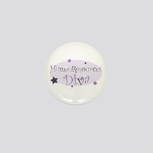 """Human Resources Diva"" [purpl Mini Button"
